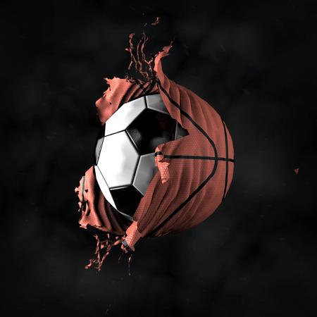 baloncesto: Transformaci�n de la pelota de f�tbol en el baloncesto