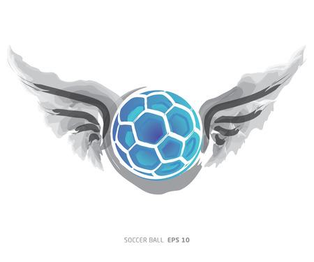 The wings of the soccer ball on a white background