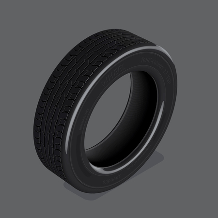 retreading: Three dimensional vector drawing realistic tire set 1