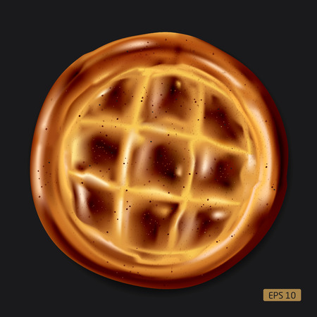 pita bread: Realistic vector illustration of colorful Ramadan pita