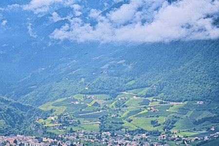 Landscape of the mountains at South Tyrol. europe