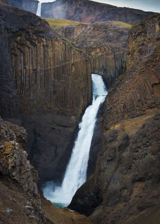 Hengifoss waterfall, near Eglisstadir, north-east Iceland