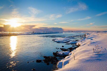 Winter Sunet in Iceland photo