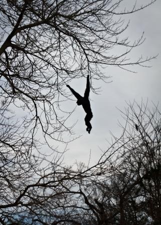 hanging around: Ape Hanging Around Foto de archivo