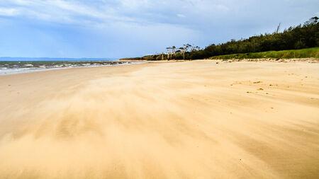 windswept: Windswept Australian beach in a remote location Stock Photo