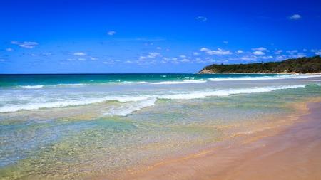 Cylinder Beach on Stradbroke Island, Queensland, Australia, on a warm sunny day