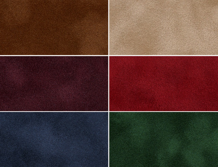 Set of multicolored velvet high-resolution textures for background  photo