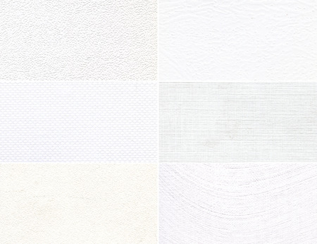 Set of white high-resolution textures, pattern for a background  photo
