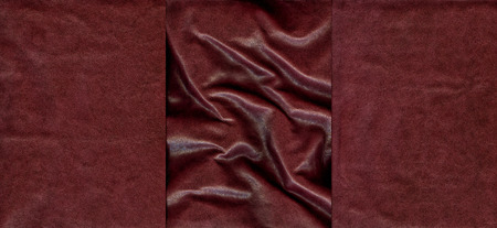 Set of burgundy leather texture for background photo