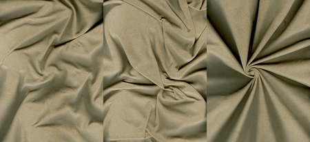 rumpled: Set of rumpled grayish orange suede leather textures for background