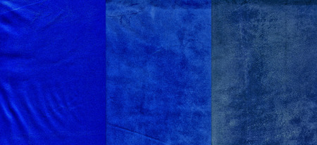 background textures: Set of strong blue leather textures for background