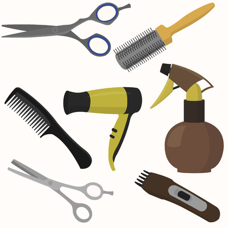 Professional hairdresser tools.