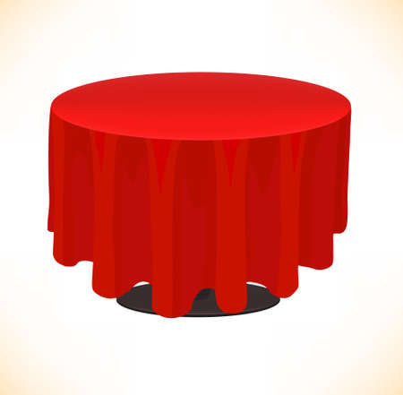 rounded circular: Red table