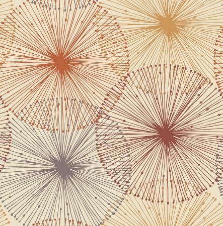 Elementos radiales de arena y naranja de fondo sin fisuras para los patrones, tarjetas, textil, fondos de pantalla, páginas web Ilustración de vector
