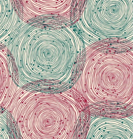 Green and red spiral pattern Vector