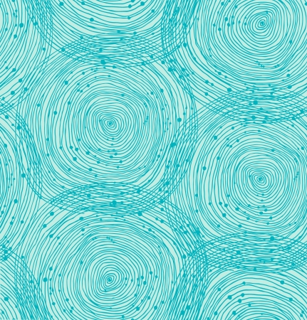 Turquoise spiral pattern