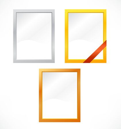 set of metallic frames  Vector