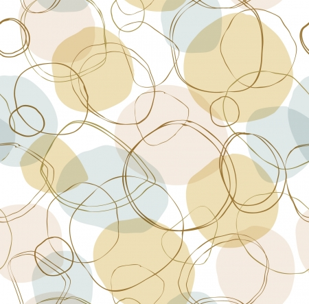 repeating pattern: Bright seamless linear pattern with hand-drown circles