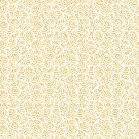 Light seamless pattern with spiral shells  Vector