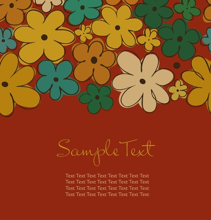 Vintage autumn seamless background with flowers Stock Vector - 15737518