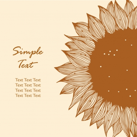 Sunflower contour silhouette Stock Vector - 15737519