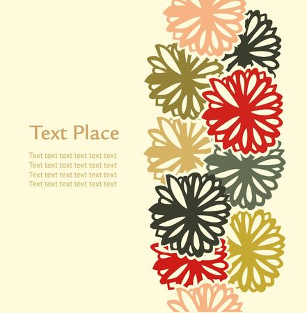 Decorative bright flowers stripe. Ornate elements for design gifts, arts, papers, cards