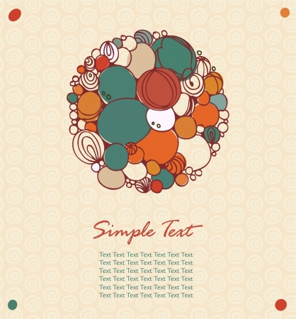 Vintage cute greeting card. Abstract elements for design with place for text  Vector