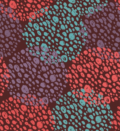 Abstract seamless background with dots. Circle pattern. Round endless texture  Illustration