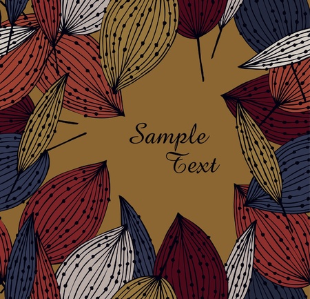 Autumn flourish banner with leafs  Vintage template for cards, crafts, gifts, arts, covers  Ornate frame with place for text Stock Vector - 16133940