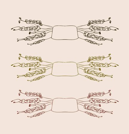 Set of old cute vignettes  Vintage retro collection of decorative floral frames  Hand drawn sketchy decorative elements Stock Vector - 16236339