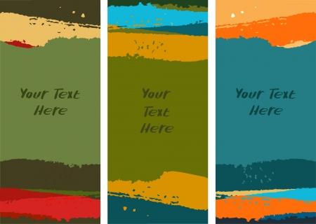 Set van kleurrijke verf banners. Het verzamelen van aquarel grenzen. Artistieke templates voor ontwerp met plaats voor tekst
