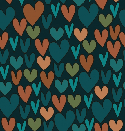 Endless abstract love pattern. Doodle cartoon backdrop with hand drawn hearts. Textile texture Stock Vector - 16433038