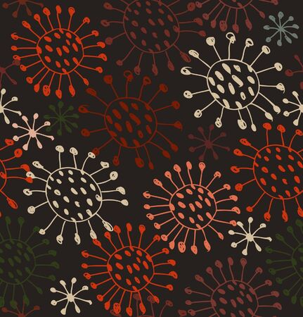 microbial: Seamless abstract pattern. Endless decorative lace texture with circles and dots. Microbes