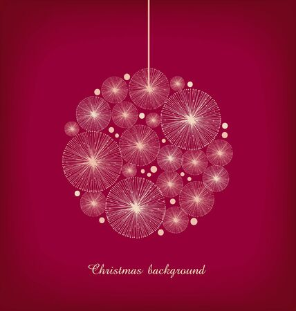Christmas toy  Greeting template for Christmas design  Decoration for Christmas tree  Xmas banner  Christmas ball  Vector