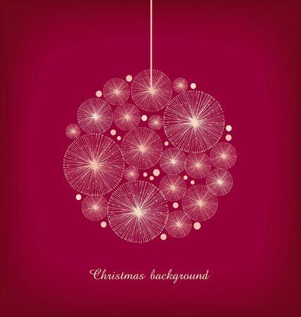 Christmas toy  Greeting template for Christmas design  Decoration for Christmas tree  Xmas banner  Christmas ball  Stock Vector - 16552177