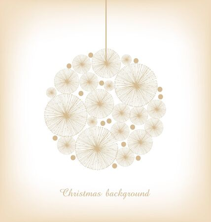 Christmas toy  Light greeting template for Christmas design  Lace decor for Christmas tree  Xmas card  Christmas ball Stock Vector - 16552170
