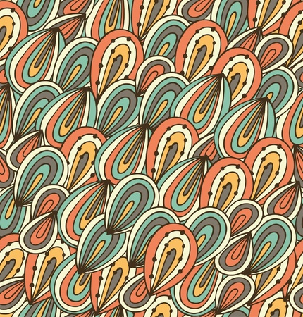 psychoanalysis: Doodle abstract background  Seamless childish pattern  Psychedelic texture