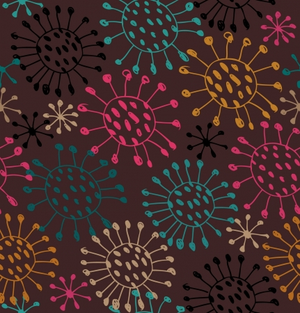 microbial: Seamless abstract pattern  Endless background with decorative snowflakes Illustration