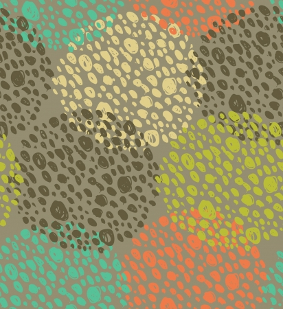Abstract seamless background with dots. Circle pattern. Round endless grunge texture can be used for prints, craft papers, wall papers, web pages background, textile  Vector