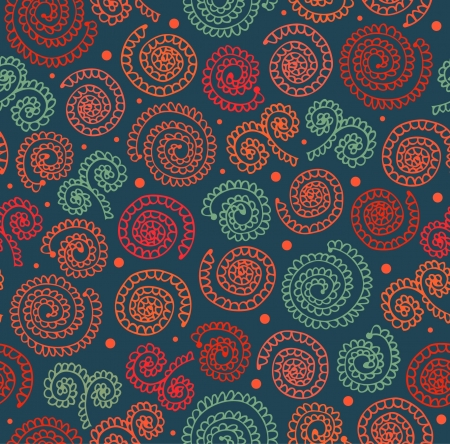 Creative abstract spiral pattern  Seamless lace background with ethnic elements Vector