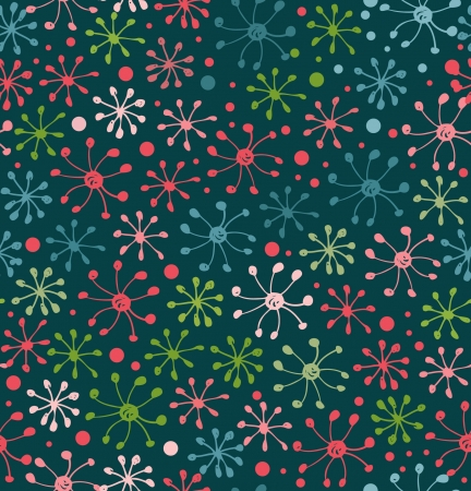 Floral pattern. Decorative abstract background. Doodle texture Vector