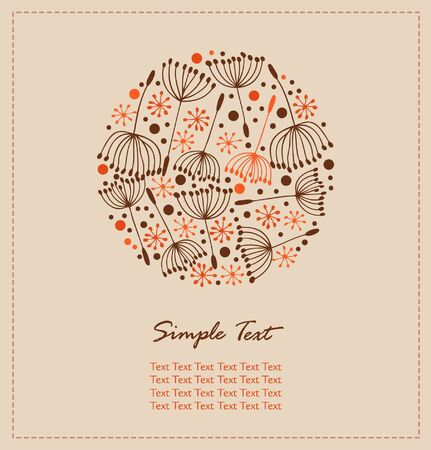 edit valentine: Flourish hand drawn cute card. Lace doodle round elements with flowers. Retro design template with fluff