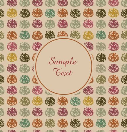 Vintage floral banner  Seamless vintage border with place for text  Grunge retro design Stock Vector - 16935570