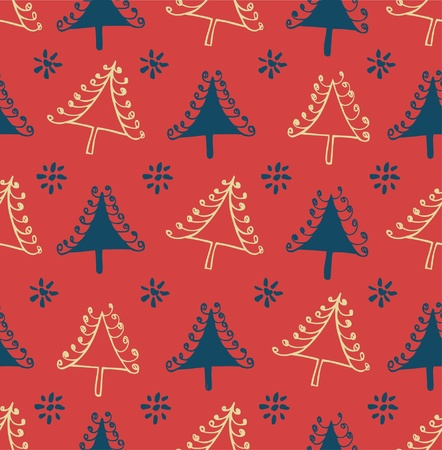 Seamless winter pattern with Christmas trees. Package texture with decorative spruces. Abstract holiday backdrop for crafts, prints, wallpapers Stock Vector - 16926796