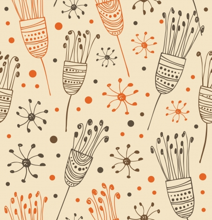 Seamless light floral pattern. Abstract background with flowers. Decorative lace texture for prints, textile, crafts, wallpapers, covers Stock Vector - 17088468
