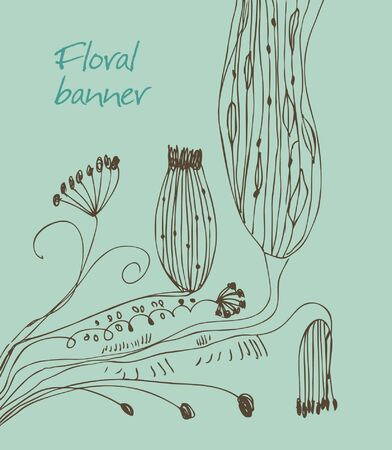 Hand drawn lace banner with decorative flowers. Can be used for cards, arts, invitations, prints. Cute flourish elements with many details Stock Vector - 17088461
