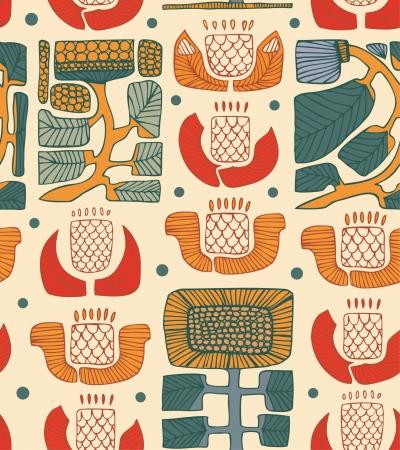 Etnische abstract patroon Bloemen nationale achtergrond Abstract inheemse textuur voor textiel, behang, ambachten, pakket papieren