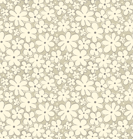 Light floral seamless pattern  Daisies natural background for wallpapers, crafts, covers, textile, gifts Vector