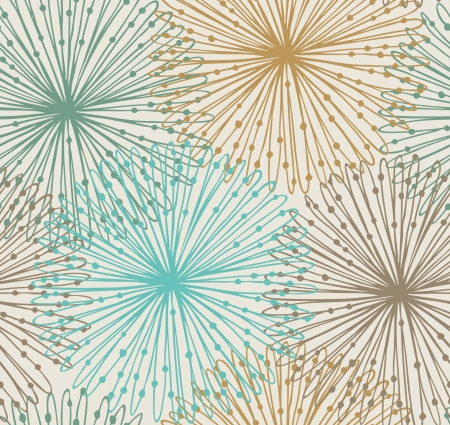 Seamless radial pattern  Netting abstract background Иллюстрация