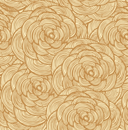 Tapestry floral seamless pattern  Decorative lace background with roses Vector